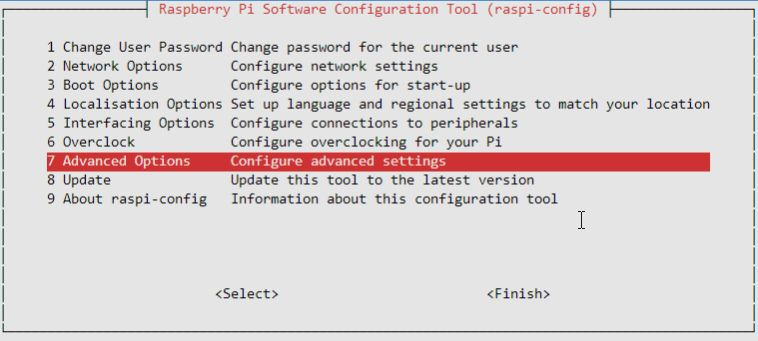 raspi-config resolution1