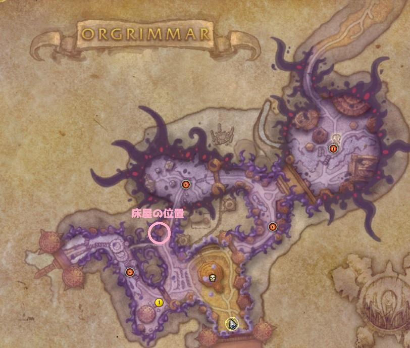 Horrific VisionのOrgrimmarのマップ画像