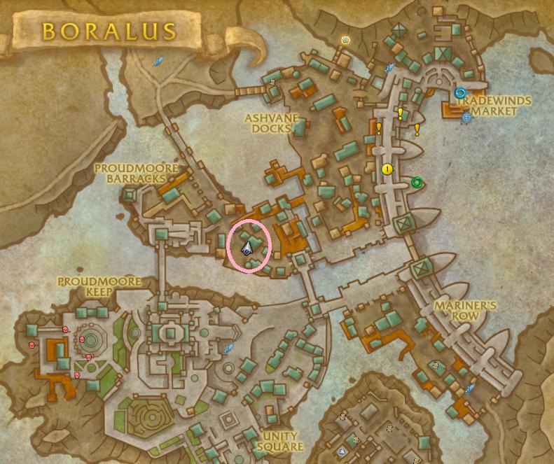 ペットショップの位置を解説した画像