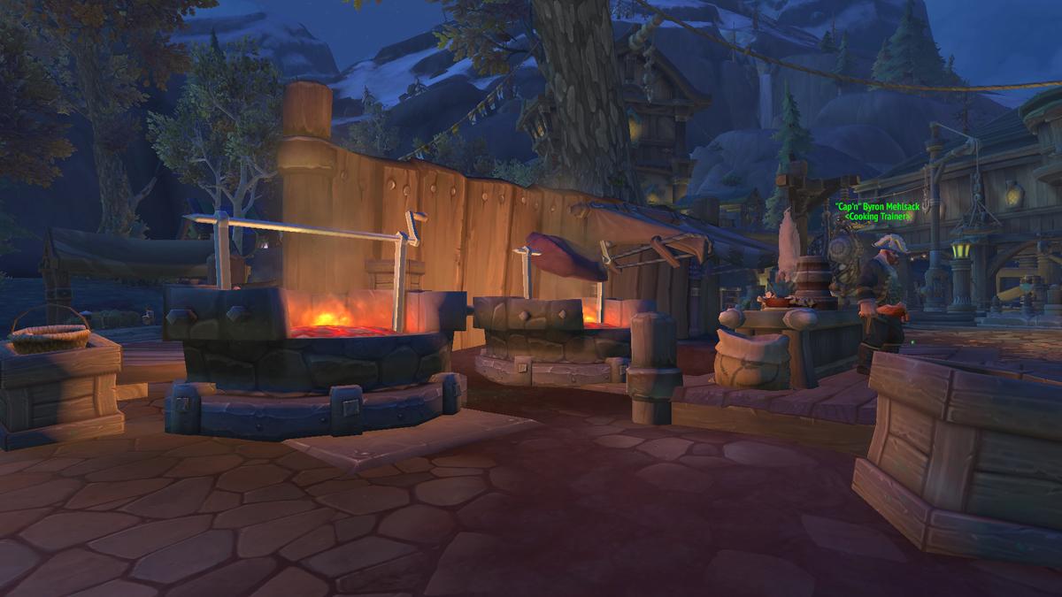 ゲーム内の料理場の画像