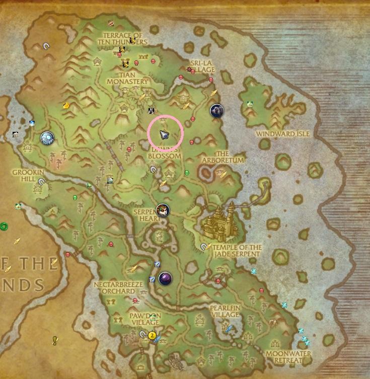 NPCの位置を示した画像