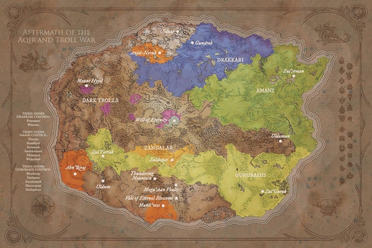 昔のAzerothの地図の画像