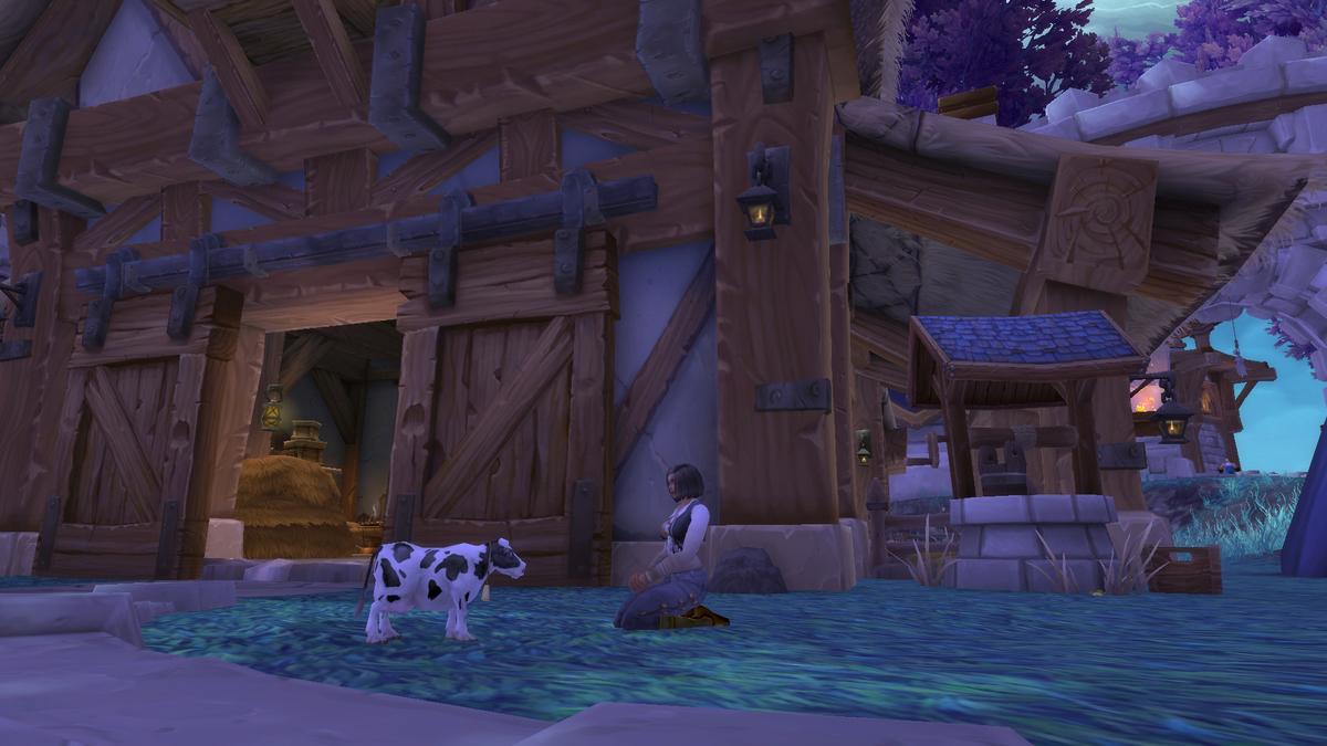 Pygmy Cowとゆったりしてる画像