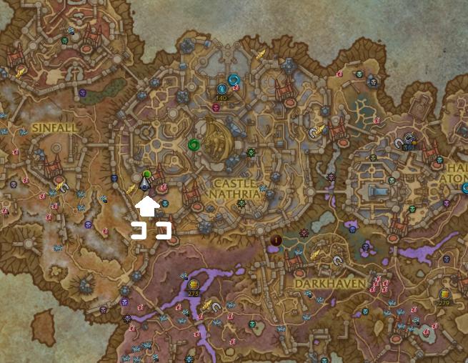 Mimsの所在地を示す画像