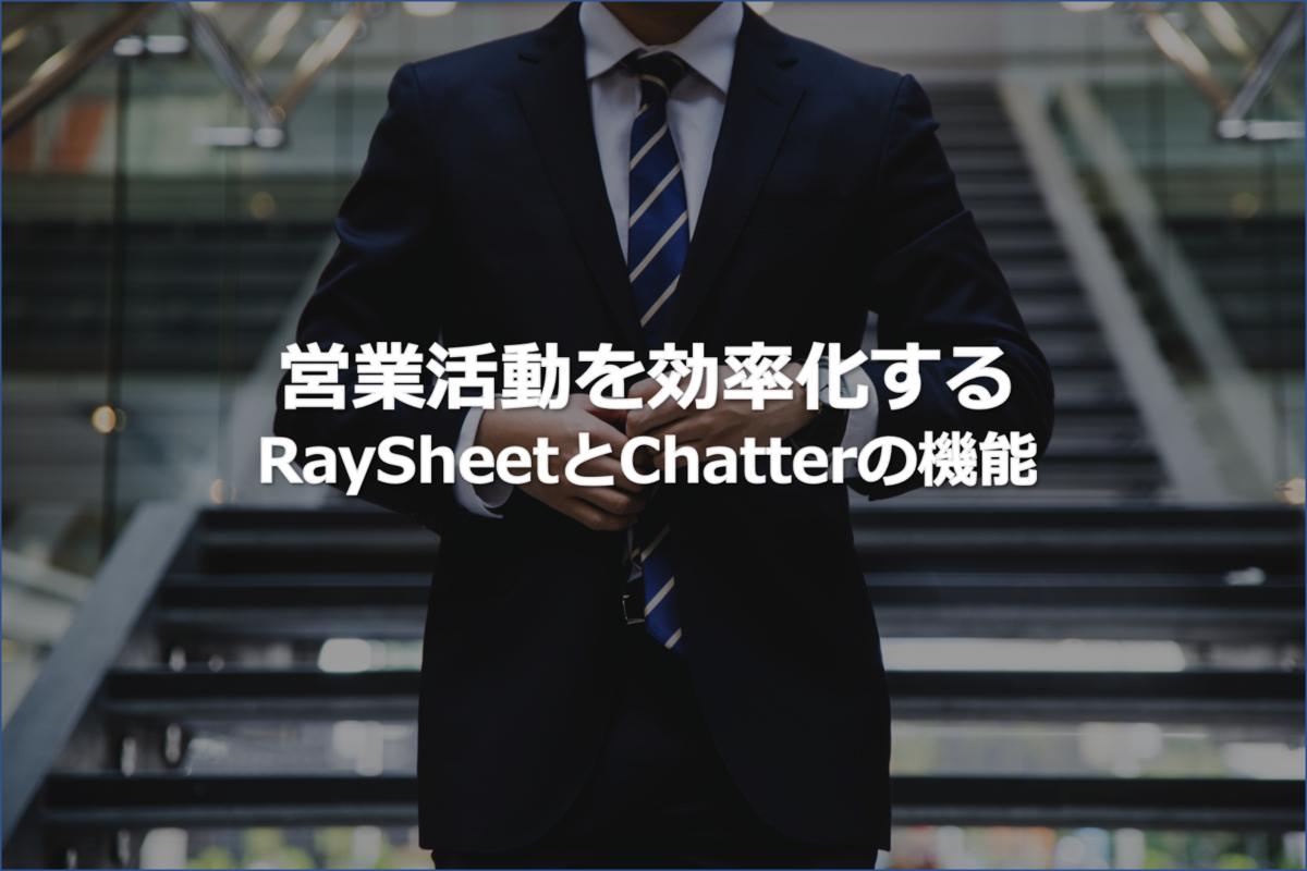 RaySheetで営業活動を効率化