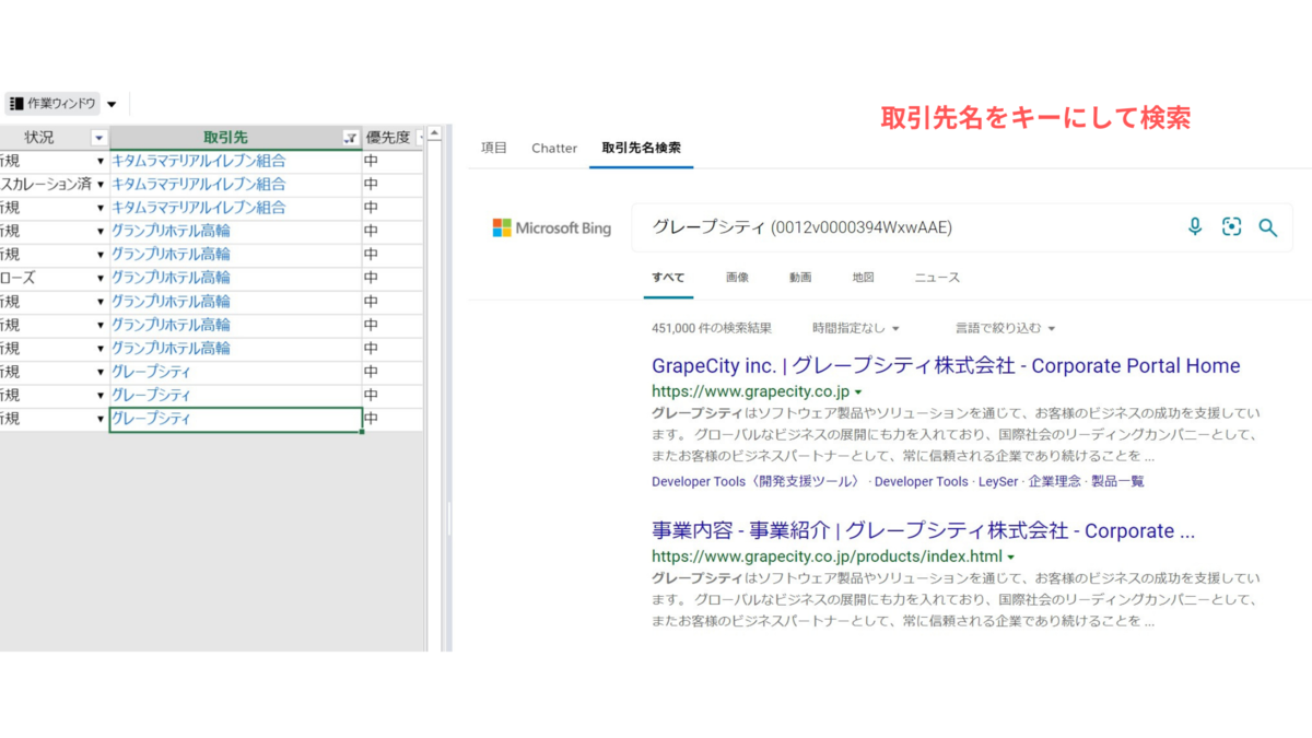 作業ウィンドウにwebページを表示