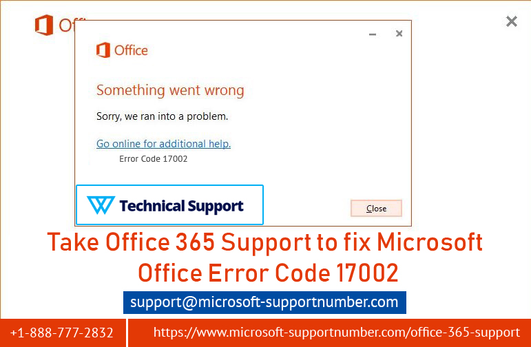 Take Office 365 Support to fix Microsoft Office error code