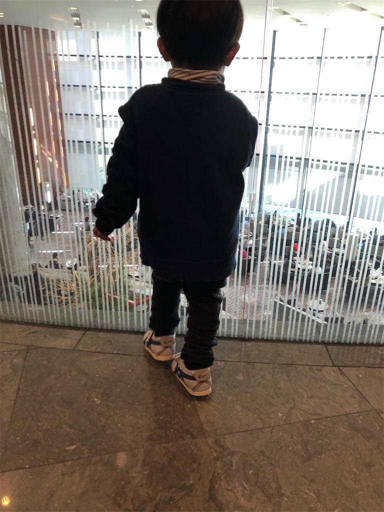 キッズシューズ 靴を履く子供