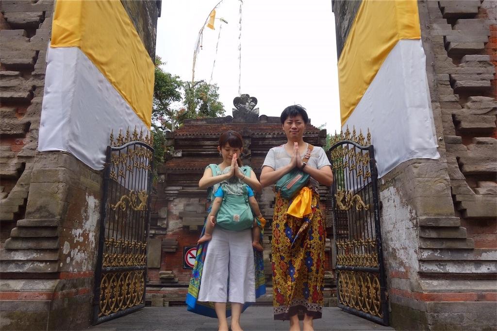 寺の中 ウブド観光
