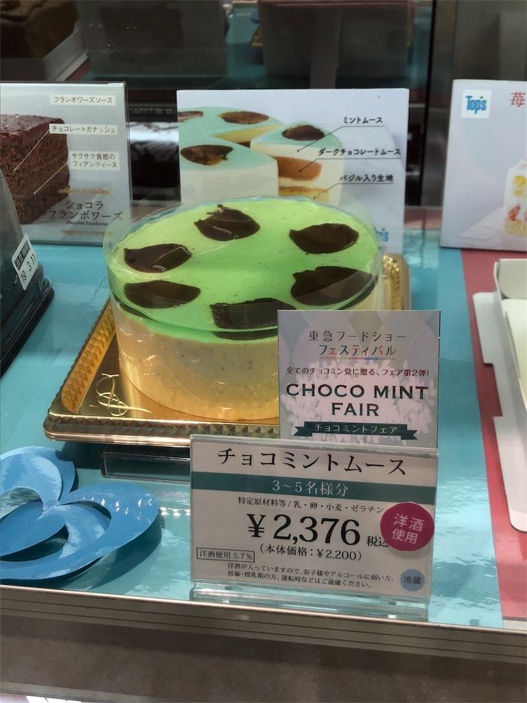 バジルとチョコミントのケーキ