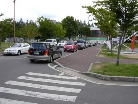 大学内路上駐車