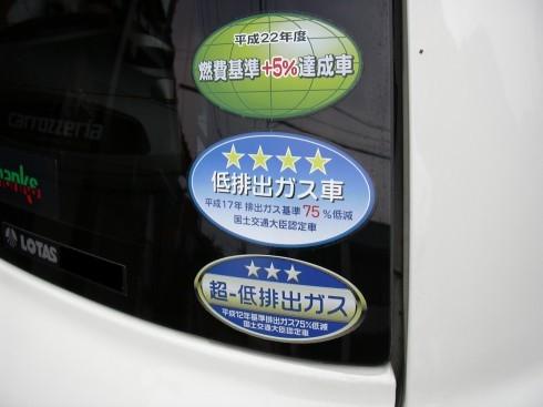 燃費基準ステッカー及び排出ガス基準ステッカー