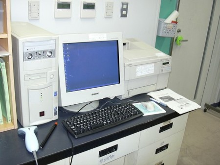 研究室のパソコン