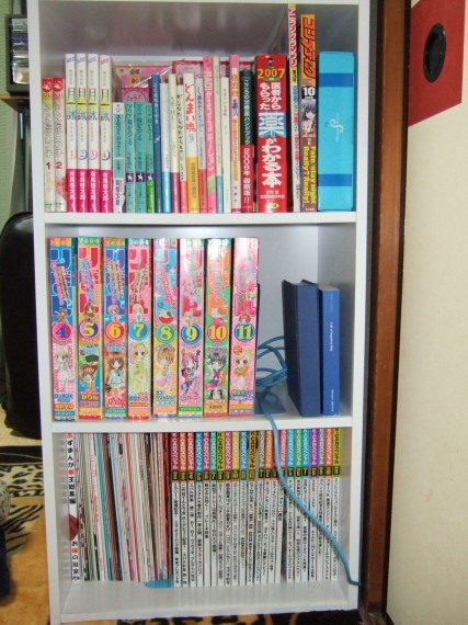 コミックなどを入れている本棚