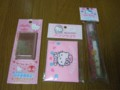 キティちゃんの歯ブラシセット、メールブロック、絆創膏セット