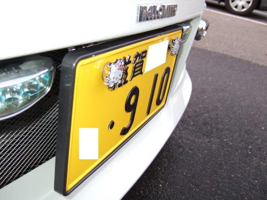 字光式ナンバープレート (斜めより)