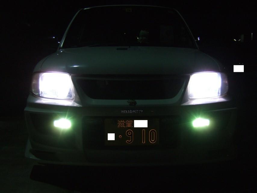 ℃-uteナンバー910取り付け後 (夜間時 フロント)