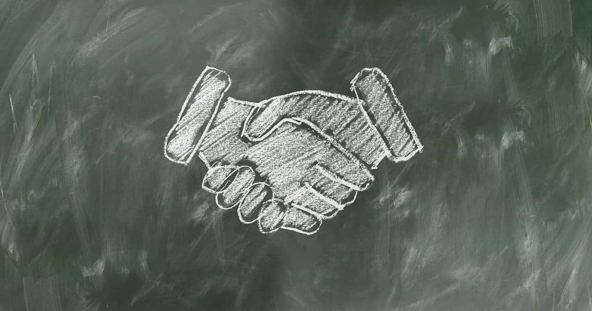 握手 黒板