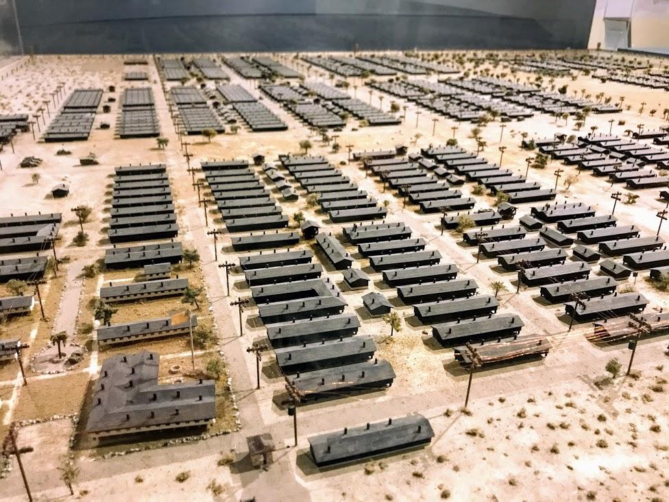 マンザナー強制収容所の模型