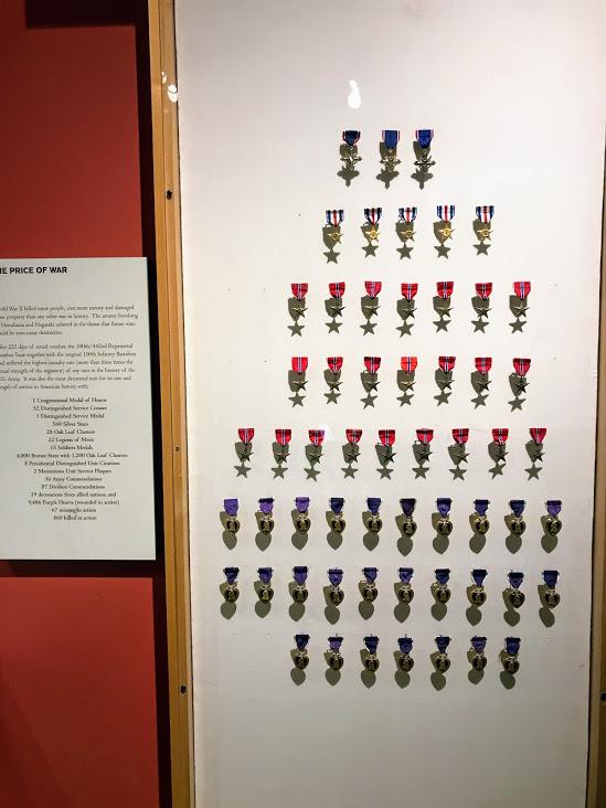442連隊が獲得した勲章