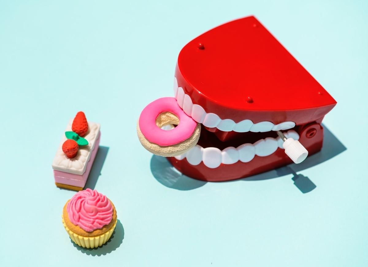 歯形とケーキのおもちゃ