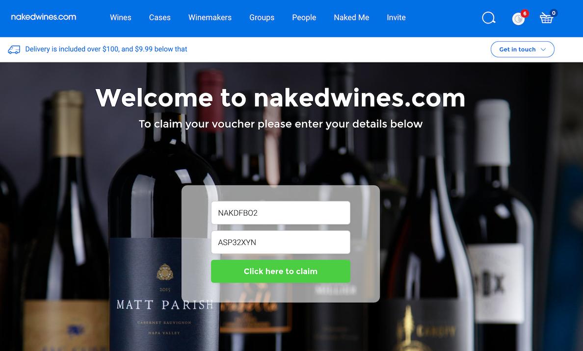 Naked WIne ホームページ
