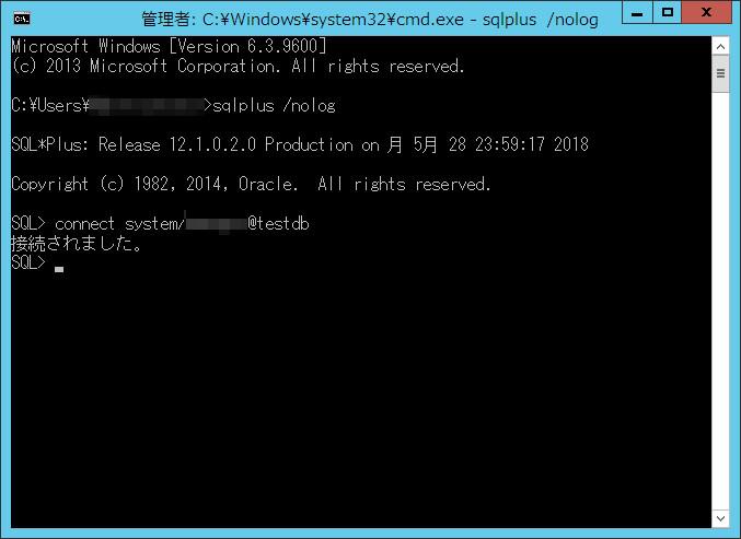 Oracle接続確認