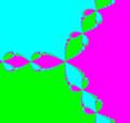1 の 3 乗根の複素 Newton 法による数値計算