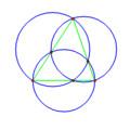 三角形の 3 直径円の交点