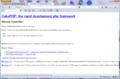 CakePHP 2.1.1 のエラー画面