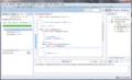 Eclipse 上で JUnit4 によるテストを実行した結果画面
