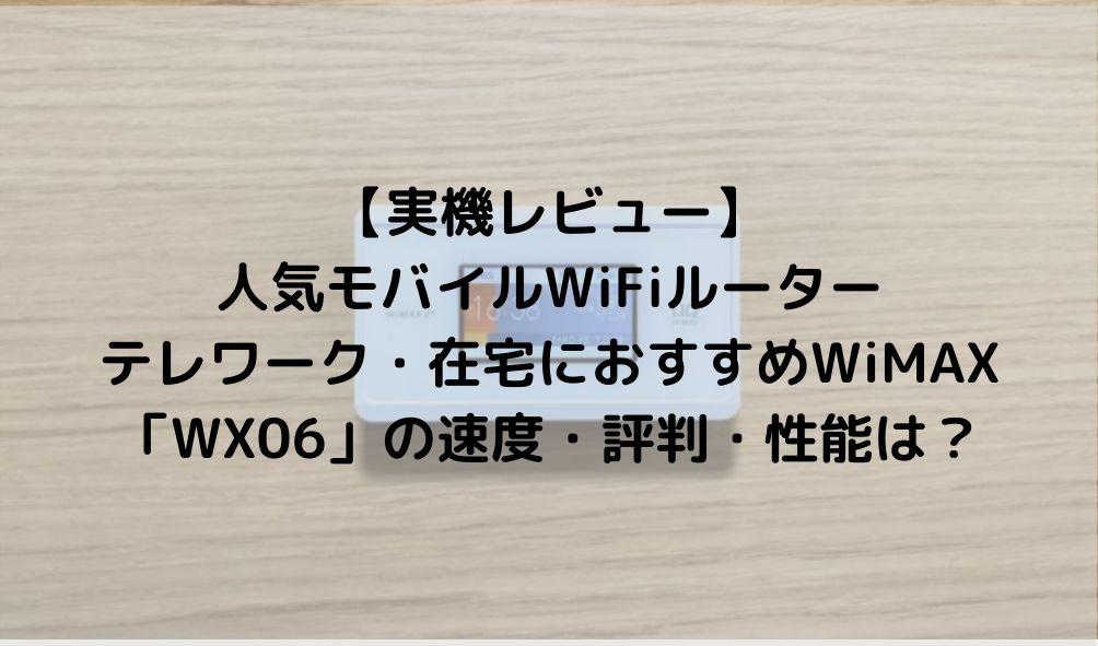 WiMAX WX06 レビュ