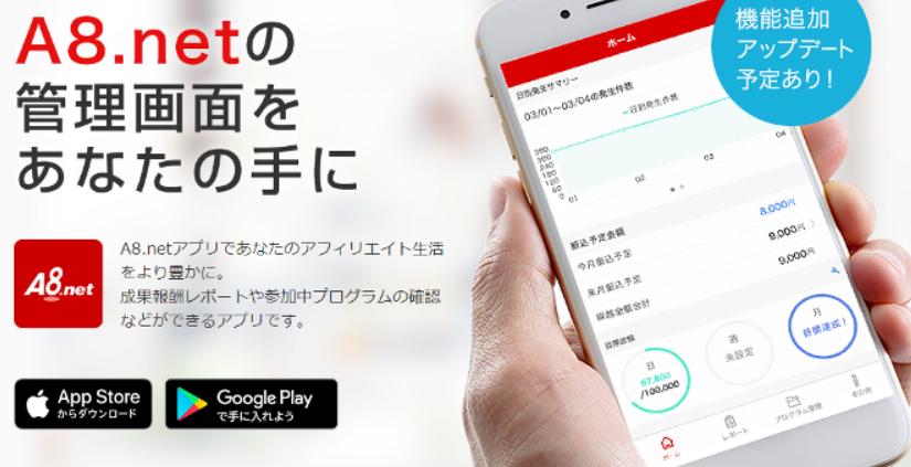 A8.net アプリ