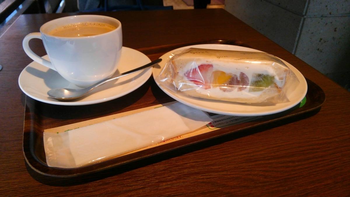 上島珈琲のフルーツサンドイッチ