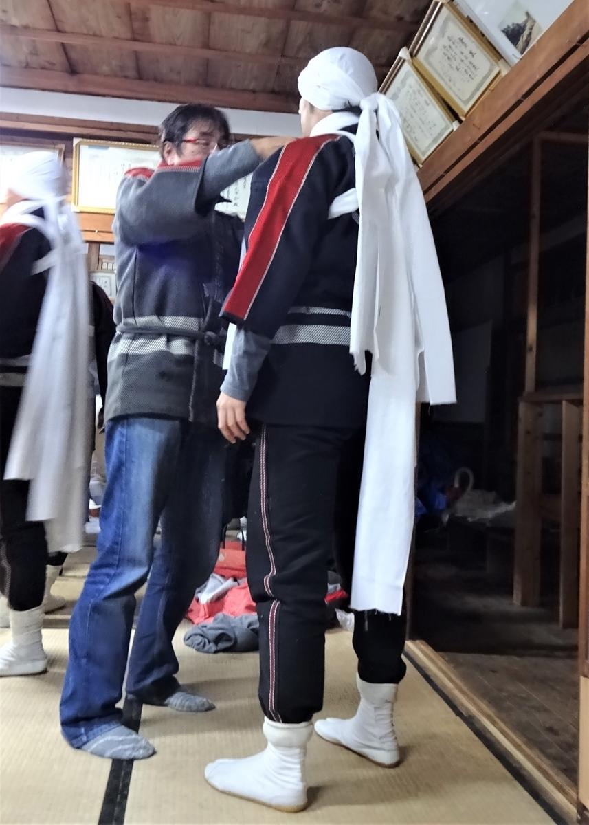 天念寺の修正鬼会 テイレシの衣裳