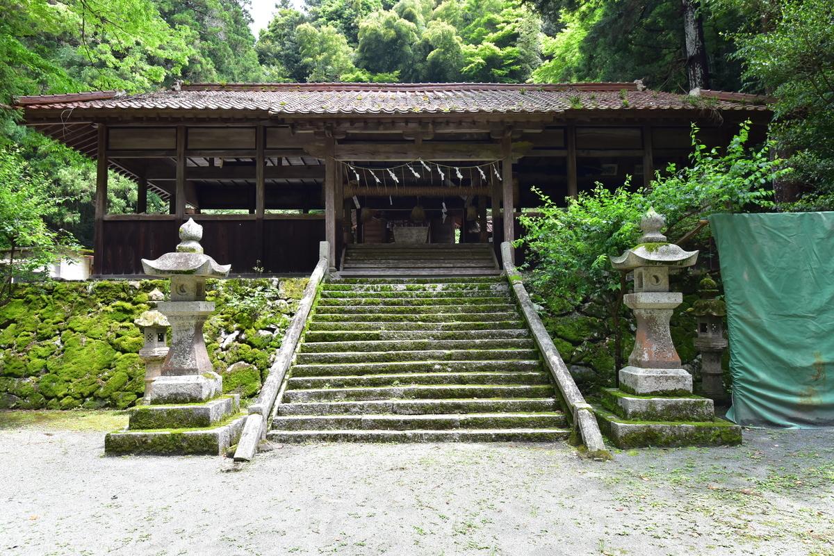 西大野八幡神社の拝殿