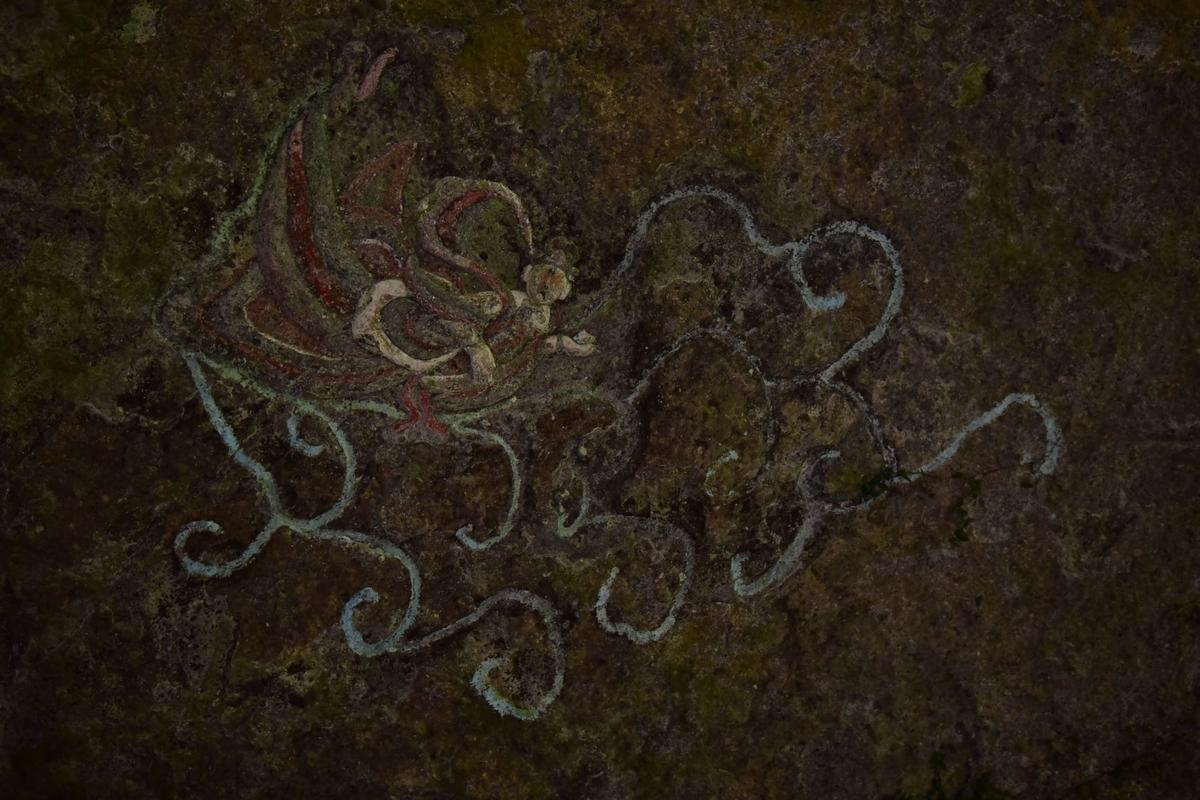 福岡県豊前市大字岩屋 岩洞窟 天井の飛天