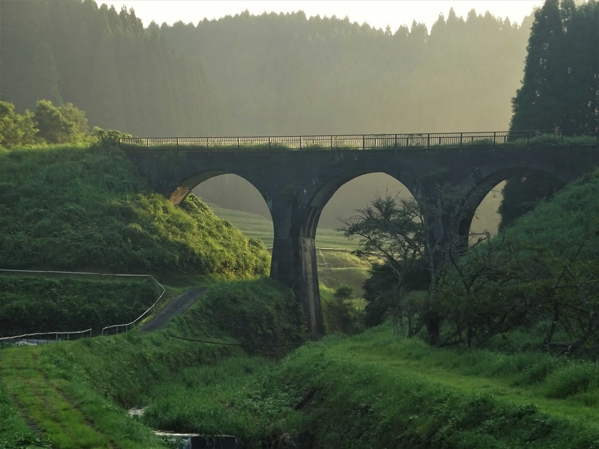 宮原線 熊本県阿蘇郡小国町 北里ふきんの橋梁