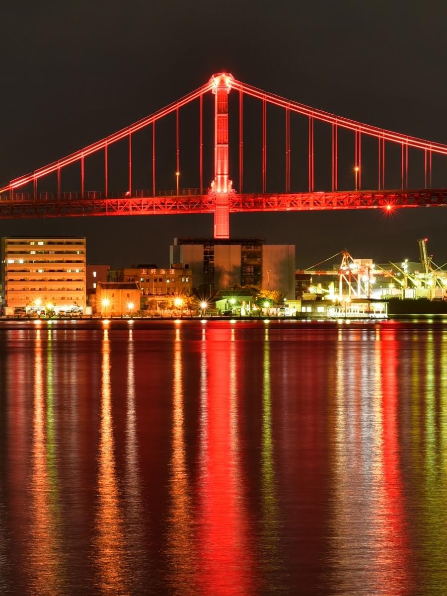 夜の若戸大橋