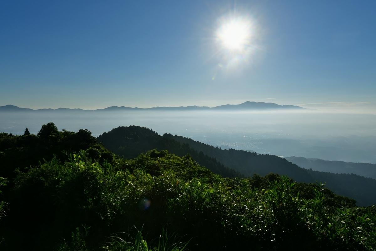 六ヶ岳山頂からの風景 2020年8月30日7時10分ごろに撮影