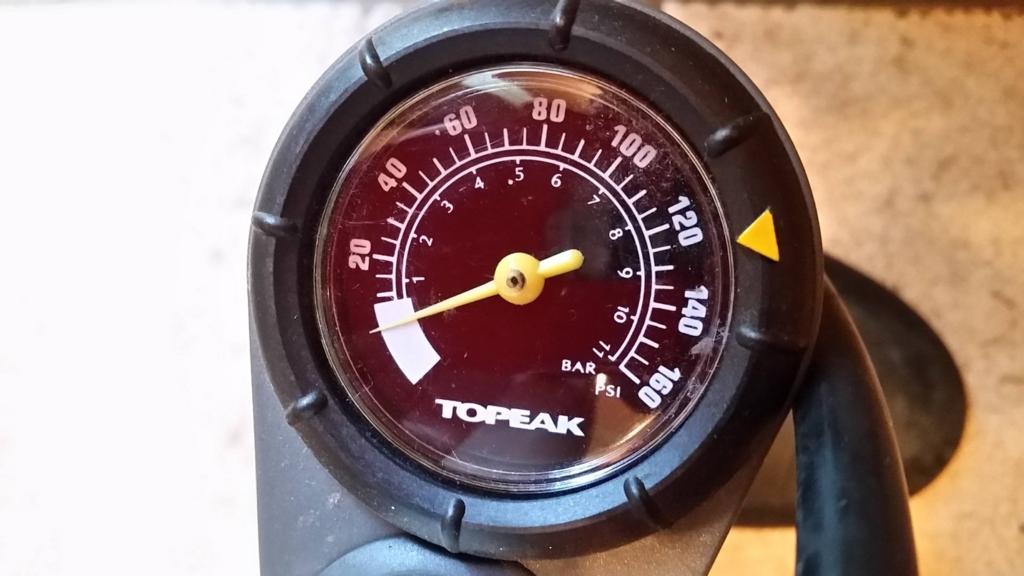 TOPEAK「JoeBlow Max HP」 気圧メーター