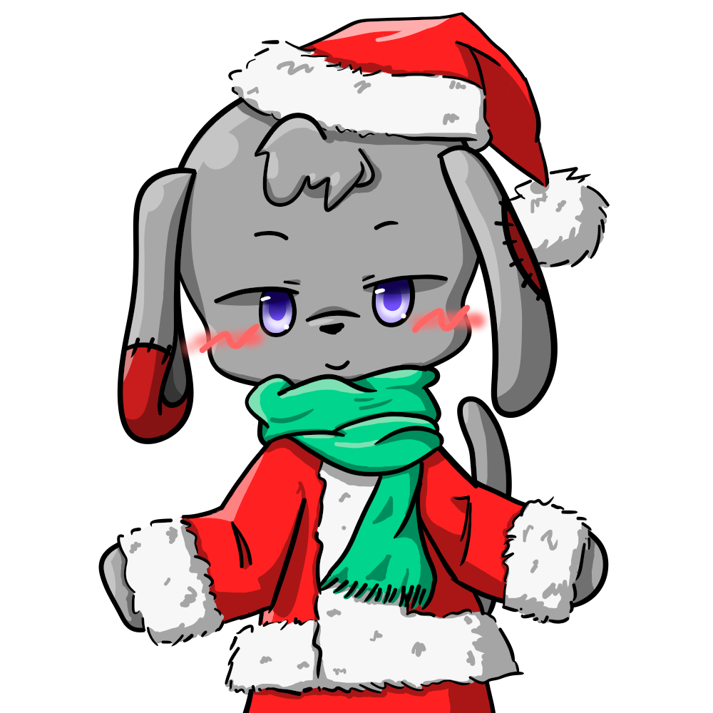サンタかしゃいぬ