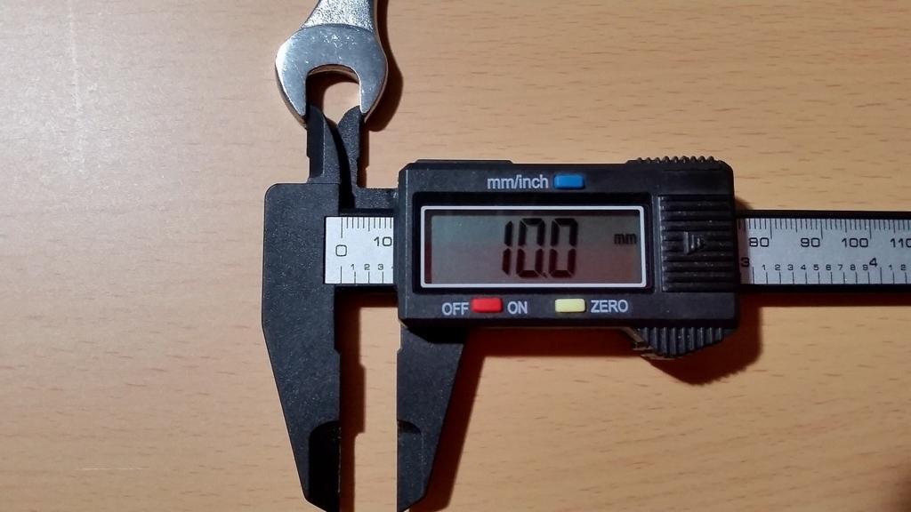 先端は10.0mm