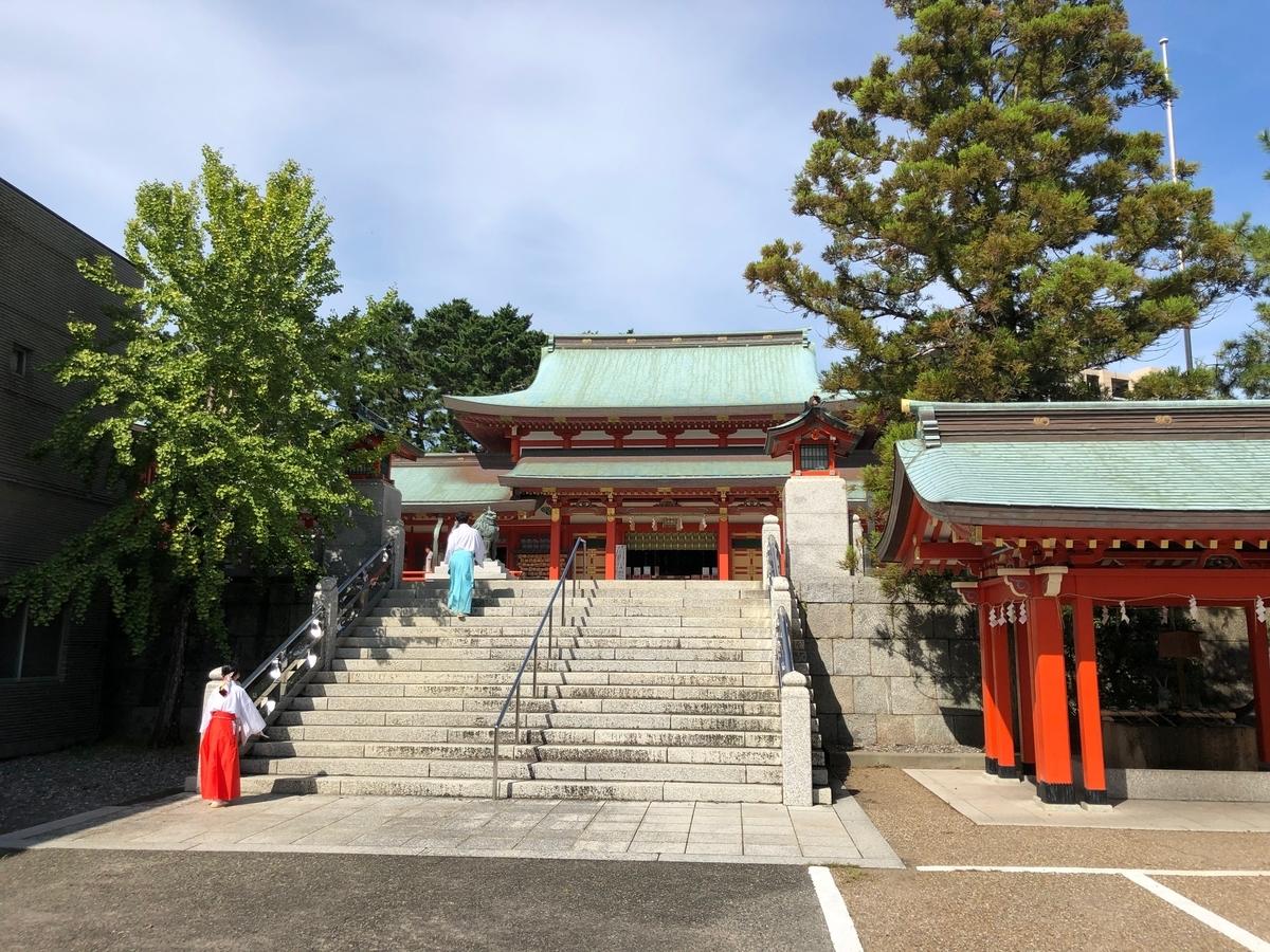 合祀された五社神社と諏された