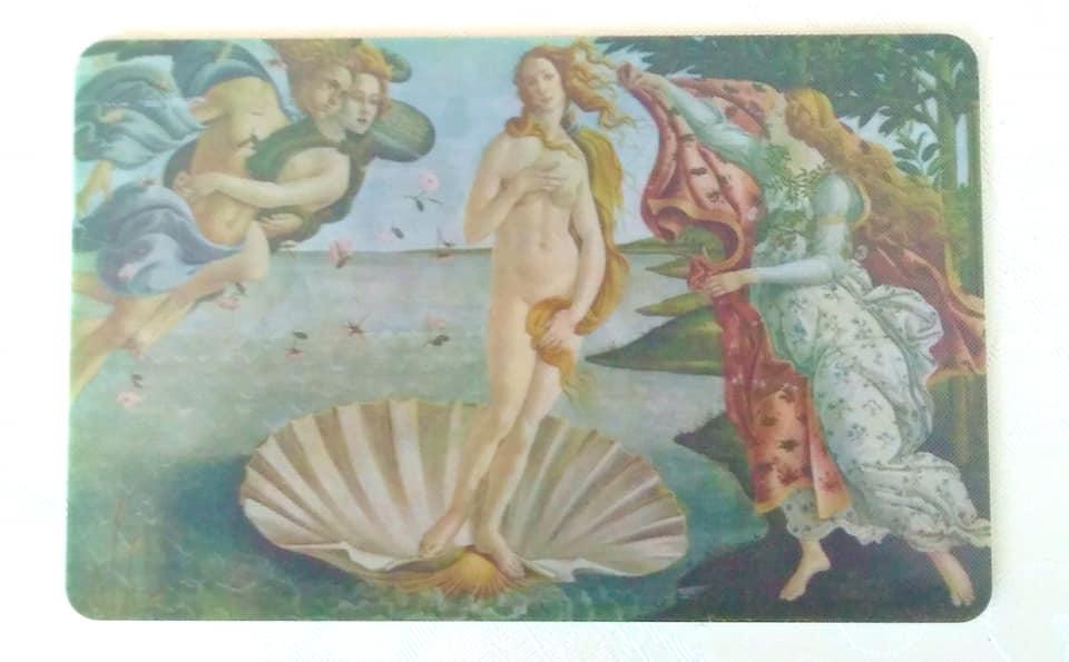 ポリツィアーノ(プラトンアカデミー中心人物)&ヴォッティチェッリの「ヴィーナスの誕生」カード