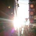 [吉祥寺 東急 ペニーレイ] 吉祥寺東急裏、ペニーレインから眺める夕陽