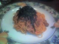 明太子のスパゲッティ