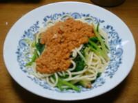 チキンのひき肉と井原流トマトソースのスパゲティ