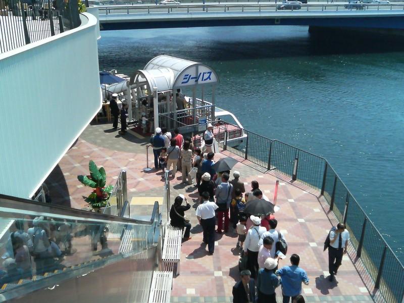 シーバス乗り場 横浜ベイクウォーター