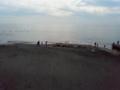 湘南海岸。 恐らく、江ノ電の七里ガ浜あたり?